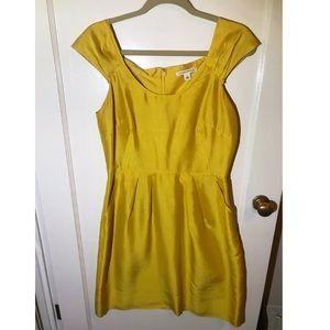 Banana Republic, Golden Yellow Silk Dress (Size 6)